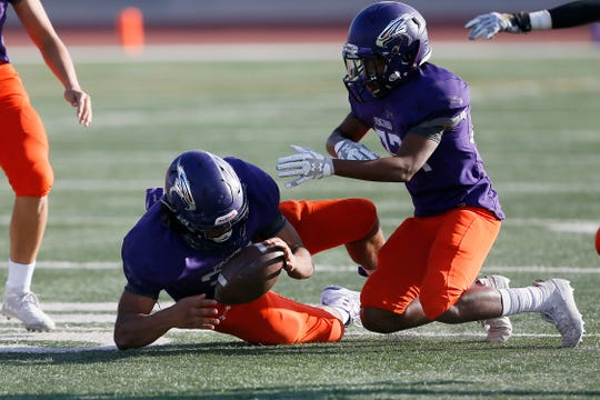After scoring a touchdown, Eastlake recovered an onside kick during the fourth quarter in the game against Lubbock Monterey in the Class 5A, Division I playoff game Saturday, Nov. 16, 2019, at the Socorro Student Activities Complex in El Paso.
