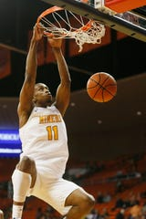 UTEP's Bryson Williams dunks against Eastern New Mexico during the game Friday, Nov. 15, at the Don Haskins Center in El Paso.