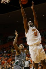 UTEP's Bryson Williams takes a shot against Eastern New Mexico during the game Friday, Nov. 15, at the Don Haskins Center in El Paso.