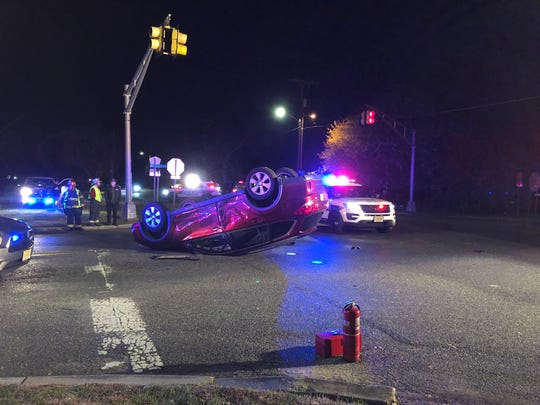 Two people were reported injured during a Nov. 15, 2019 collision at Oak and Brewster roads, Vineland.