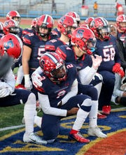 Archbishop Stepinac are pictured after their loss to Cardinal Hayes in CHSFL AAA Championship game at Mitchel Field in Uniondale, New York, Nov. 16, 2019. Hayes beat Stepinac, 25-7.