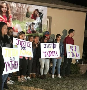 Supporters of the family of slain teen Yajaira Garcia gathered Friday evening in the wake of the news that the man accused of murdering her is out of Wichita County Jail on bail.