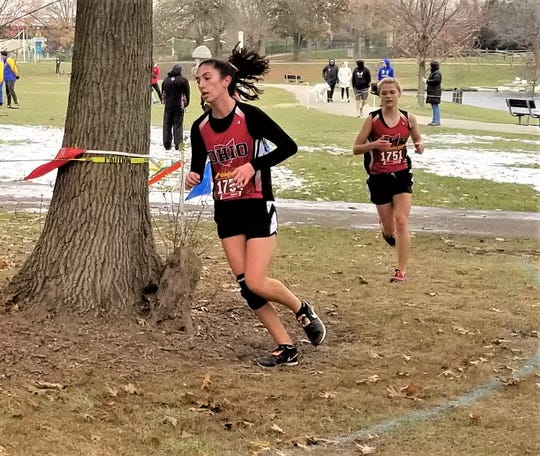 Crooksville's Savannah Moorehead competed for Team Ohio in Saturday's Mid-East Cross Country Championships.
