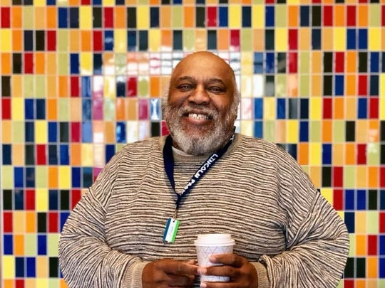 "Donald Bell, 70, a retired college administrator. The photo was taken in the lobby of the Town Hall Apartments in Chicago, Illinois, the fourth senior residential development in the United States designed to be LGBT senior-friendly. ""My neighbors and I are fortunate to live in a place where we can live our authentic lives in our aging years,"" said Bell."