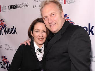 Patricia Heaton  and husband David Hunt arrive at BritWeek's VIP launch reception of the 5th annual BritWeek at the British Consul General's residence on April 26, 2011 in Los Angeles, California.