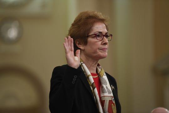 Marie Yovanovitch, former ambassador to Ukraine, testifies on Nov. 15, 2019, on Capitol Hill.
