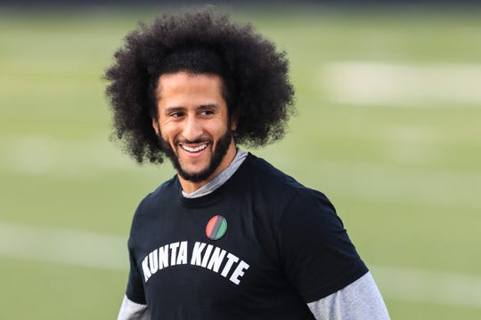 Colin Kaepernick worked out on Saturday at Charles Drew High School in Riverdale, Georgia.