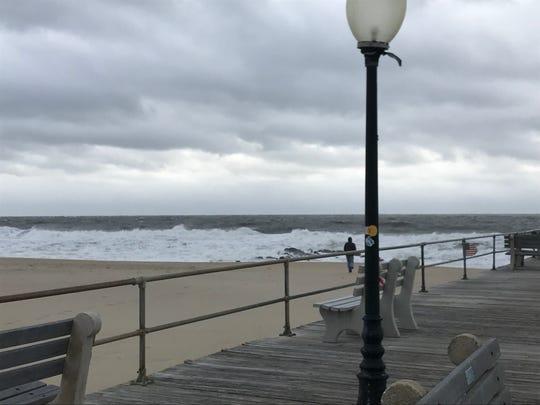 High surf off Ocean Grove beach Sunday Nov. 17, 2019