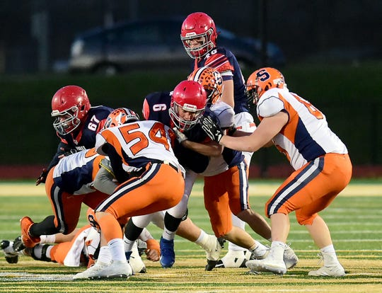 Solvay vs. Chenango Forks, Class B regional  football at Vestal Central School District, Saturday, November 16, 2019.
