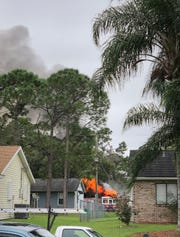 Palm Bay Fire Rescue crews responded to blaze that gutted a house garage