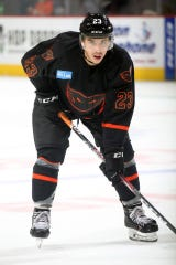 Morgan Frost is co-leading the Lehigh Valley Phantoms in points through the team's first 16 games.
