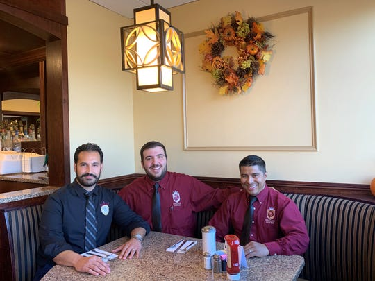 "Red Lion Diner owner  Efthimios ""Paul'' Tsiknakis (from left) with his brother-in-law and diner manager Kosta Linardos and Executive Chef Edio Barrera."