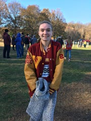 Voorhees' Emma McGill after winning the 2019 Group II cross country title