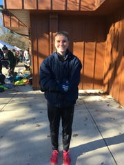 Pingry's Nicole Vanasse after winning the 2019 Non-Public A cross country title