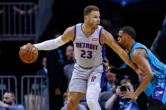 Pistons forward Blake Griffin has played in just two games so far this season.