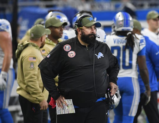 Matt Patricia's team has committed 101 penalties in 10 games this season.