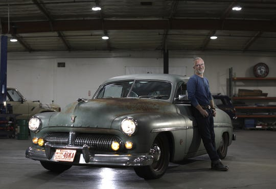 Jonathan Ward created this 1949 Mercury Coupe EV by converting the classic car to an electric vehicle powered by Tesla batteries.