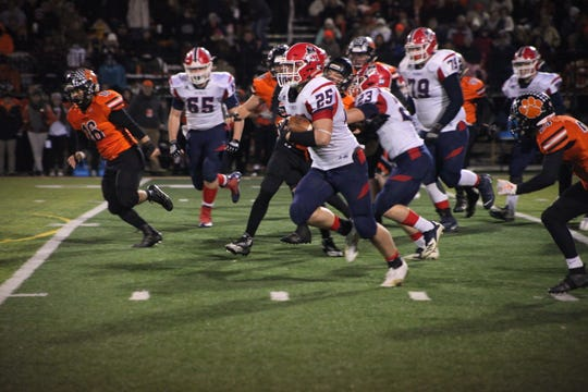 Heritage Hills' methodical approach on offense led the Patriots to a 22-0 win over Lawrenceburg in the Class 3A regional.