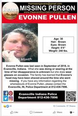 Missing poster for Evonne Pullen