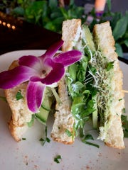 The AAC - Avocado, arugula and cucumber sandwich at Amy's on Franklin lunch.