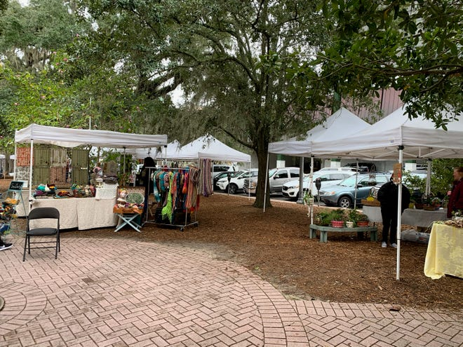 A variety of vendors set up shop for the Tallahassee Market.
