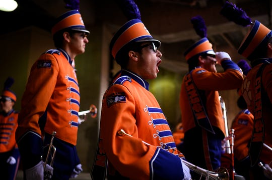 Clemson Marching band before their game against Wake Forrest at Memorial Stadium Saturday, Nov. 16, 2019.