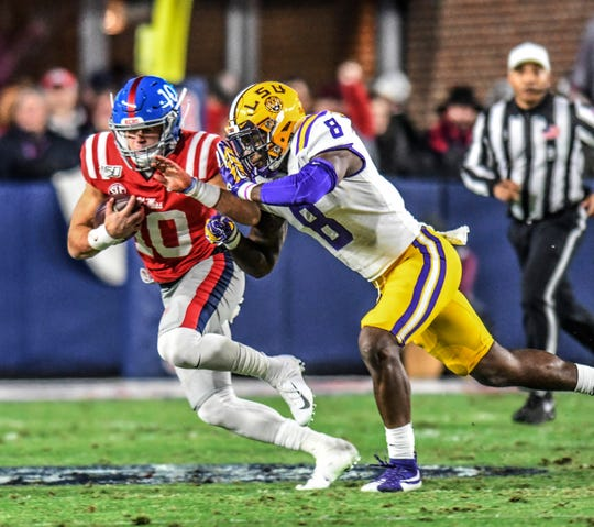 John Rhys Plumlee, the Ole Miss quarterback, had a career day versus LSU.