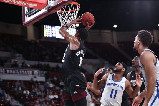 Mississippi State sophomore forward Robert Woodard led the Bulldogs to victory over New Orleans.