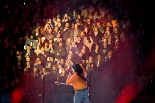 Garth Brooks performs to 84,000 fans at Knoxville's Neyland Stadium on Nov. 16, 2019.