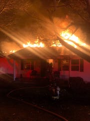 Firefighters responded to a house fire in Hocking Township Saturday night.