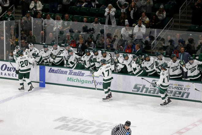 MSU hockey is 9-8-1 overall and 6-3-1 in the Big Ten heading into Christmas Break.