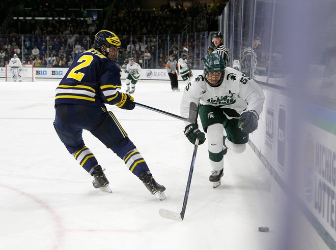 MSU's Patrick Khodorenko had a goal and two assists in the Spartans' 4-1 win over Minnesota on Friday.