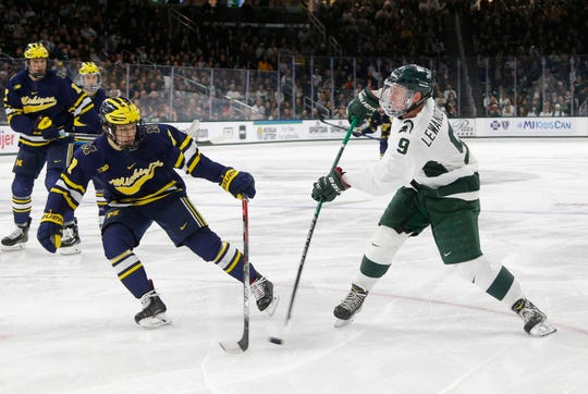 MSU junior forward Mitchell Lewandowski has five goals and six assists on the season, part of a top line that's still the strength of this MSU team.