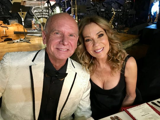 Kathie Lee Gifford with Jeff Bown, founder and conductor of Nashvlle Pops, which presented Gifford with a lifetime achievement award Saturday, Nov. 16, 2019, at the Musicians Hall of Fame & Museum in Nashville