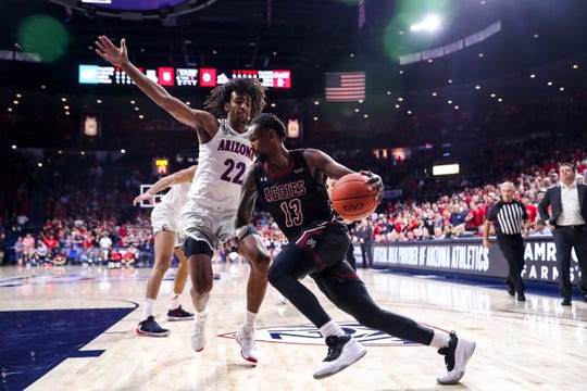 The New Mexico State men's basketball team is set to play South Florida on Tuesday in the semifinals of the Cayman Islands Classic.