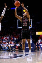 The New Mexico State men's basketball team defeated South Florida on Tuesday to advance to the championship game of the Cayman Islands Classic.