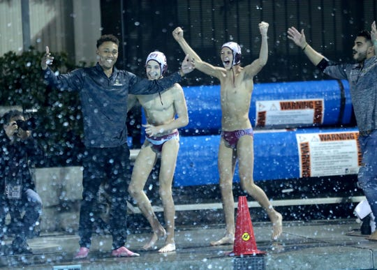 Rancho Mirage won their CIF-SS Division 7 water polo championship game against Ontario in Irvine, Calif., on November 16, 2019. Rancho Mirage won 11-9.