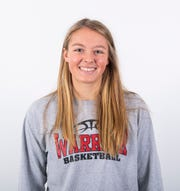 Susquehannock girls' basketball player Tyler Elliott poses in the GameTimePA photo booth during YAIAA winter sports media day at the York Daily Record on Sunday, November 17, 2019.