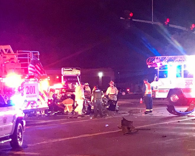 Fatal crash at Gilbert and McKellips roads in the early morning of Nov. 17, 2019.