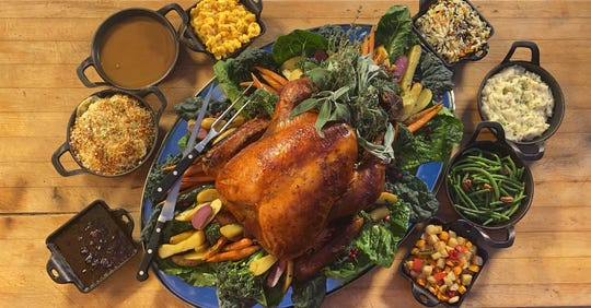 A gorgeously roasted turkey commands the table at Thanksgiving, its loyal adjutants (aka side dishes) paying homage.