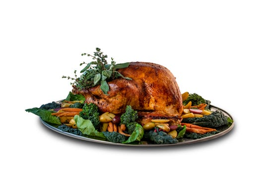 Roast turkey in various styles (here, a traditional bird from the Atlantis casino) is starring at casino and independent restaurants that are open on Thanksgiving Day, Nov. 28.