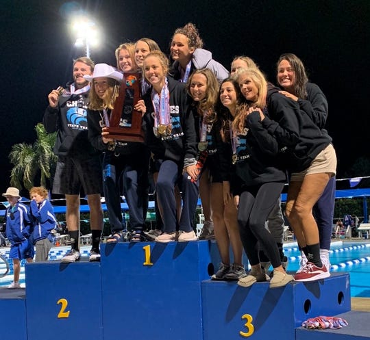Chiles' girls swimming and diving team captured a Class 3A state title on Saturday, Nov. 16, 2019 in Stuart.