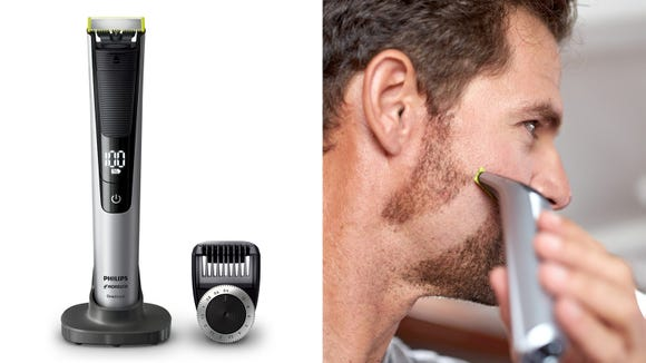 This electric trimmer and razor combo makes a great gift this holiday season.