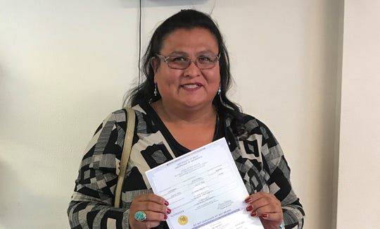 Mattee Jim, of Albuquerque, was one of six people who did a test run in October of New Mexico's birth certificate law that allows gender marker changes.