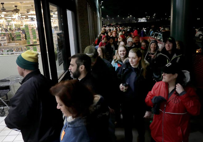 Shoppers looking for Black Friday deals streamed through the doors at Menards in Grand Chute last year. The scene will look at lot like this again this year.