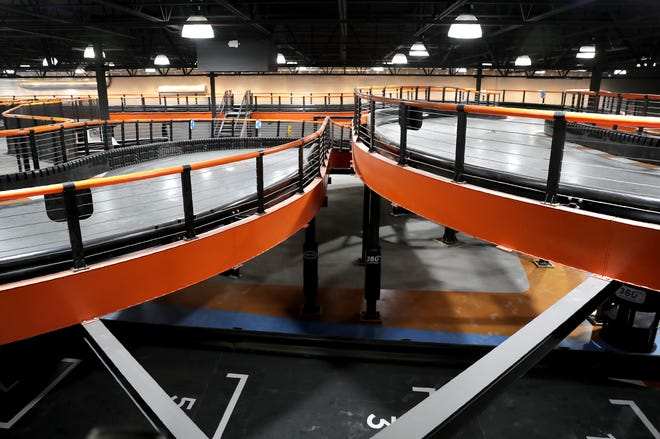 A multi-level go-kart track is one of the big attractions at Urban Air Adventure Park in Grand Chute. The park opens Saturday.