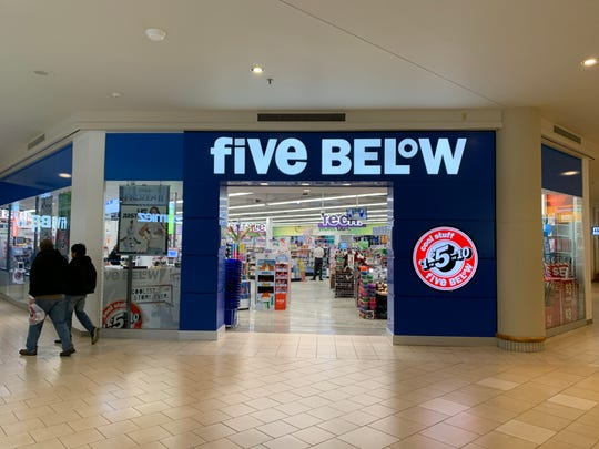 Five Below has opened at Freehold Raceway Mall.