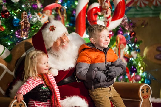 Tweetsie Railroad in Blowing Rock hosts Santa Claus on weekends through Dec. 28.