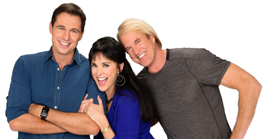 John Tesh hosts a radio show and podcast with his wife, Connie Sellecca, and her son, Gib Gerard.