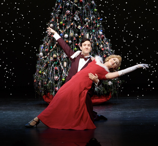 """Cullen Sanders as Phil Davis, left, and Kelli Folse as Judy Haynes, perform in """"White Christmas"""" at the Historic Cocoa Village Playhouse, which is in line to receive a $16,850 grant through the county's Cultural Support Grant Program."""